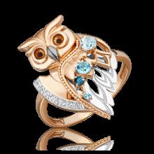 """Кольцо из золота с топазом PLATINA Jewelry """"Загадочность"""" арт. 01-5551-00-201-1111"""