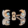 """Серьги из золота с топазом PLATINA Jewelry """"Загадочность"""" арт. 02-4891-00-201-1111"""