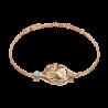 """Браслет из золота с хризолитом и эмалью PLATINA Jewelry - """"Павлин"""""""