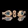 """Серьги из золота с топазом и эмалью PLATINA Jewelry - пусеты """"Взгляд"""""""