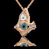 """Подвеска из золота с топазом и эмалью PLATINA Jewelry - """"Взгляд"""""""
