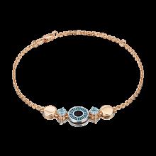 """Браслет из золота с топазом и эмалью PLATINA Jewelry - """"Взгляд"""""""