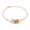 """Браслет из золота с гранатом PLATINA Jewelry - """"Кобра"""""""