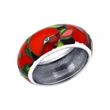 94011935 Кольцо из серебра с эмалью, SОKОLОV